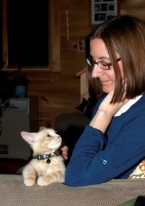 Marie and kitten